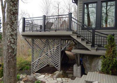 Terrasse escalier composite Jaro Construction Rive-Nord Montréal