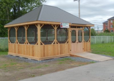 Abri pavillon commercial Jaro construction Montréal Rive-Nord
