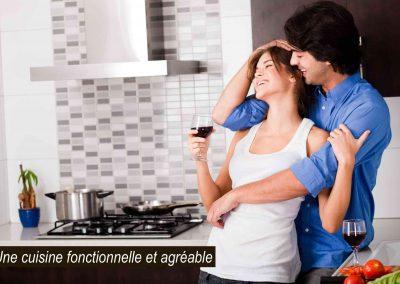 Cuisine fonctionnelle rénovation Laval